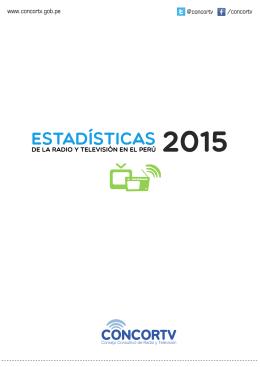 Estadísticas de la Radio y Televisión en el Perú