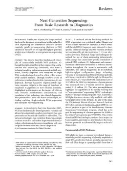 From Basic Research to Diagnostics Reviews