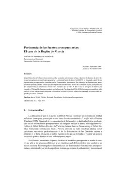 El caso de la Región de Murcia - Instituto de Estudios Fiscales