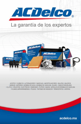 Catálogo Top 5 productos ACDelco