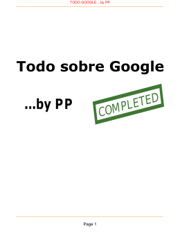 Todo sobre Google ...by PP - MNK EDUCATION PAGE pp4mnk