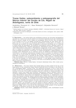 Trazas fósiles, paleoambiente y paleogeografía del Silúrico Inferior