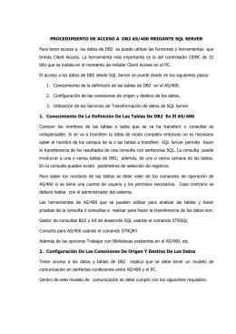 PROCEDIMIENTO DE ACCESO A DB2 AS/400 MEDIANTE SQL