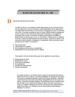 BASES DE DATOS IBM AS / 400