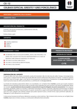 colbaix especial gresite y gres porcelánico cx–12
