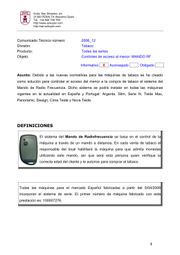 Azkoyen Control RF Tabaco