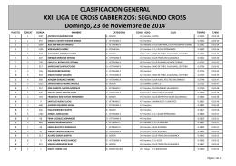 SEGUNDO CROSS Domingo, 23 de Noviembre de 2014