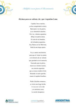décimas para un valiente (argentino luna)