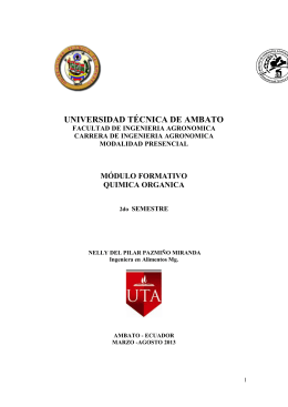 Química Orgánica - Universidad Técnica de Ambato
