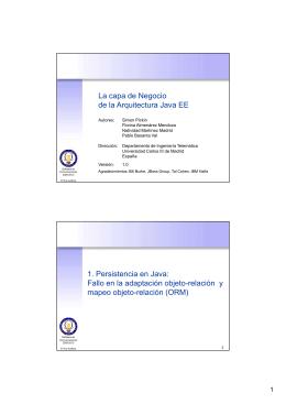 La capa de Negocio de la Arquitectura Java EE 1