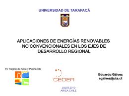 5-Aplicaciones ERNC en los Ejes de Desarrollo Regional