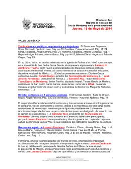 May 15, 2014 4:05:05 PM - Tecnológico de Monterrey