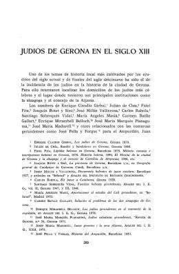 JUDIOS DE GERONA EN EL SIGLO XIII