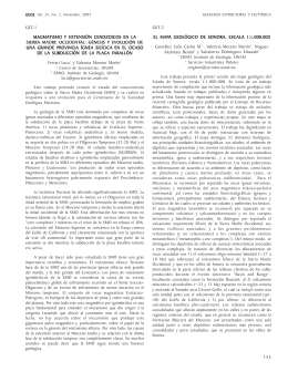 GEOS, Vol. 24, No. 2. Geología Estructural y Tectónica