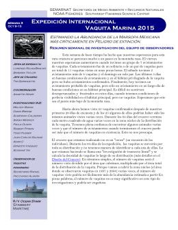 Expedición Internacional Vaquita Marina 2015