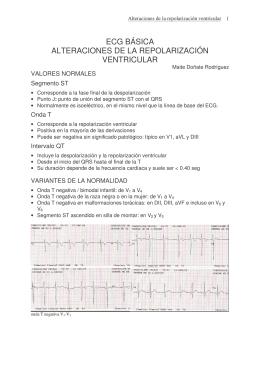 ecg básica alteraciones de la repolarización ventricular