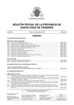 Boletín Oficial de la Provincia de Santa Cruz de Tenerife