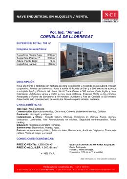 "Pol. Ind. ""Almeda"" CORNELLÁ DE LLOBREGAT"