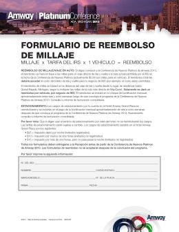 FORMULARIO DE REEMBOLSO DE MILLAJE