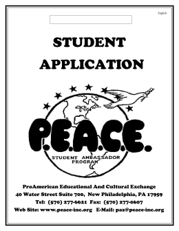 ProAmerican Educational And Cultural Exchange - Peace