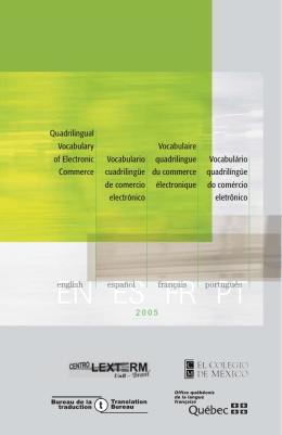 Vocabulaire quadrilingue du commerce électronique