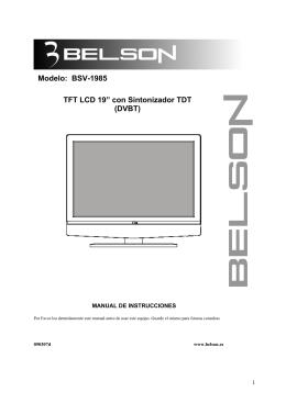 Belson BSV1985 Manual - Recambios, accesorios y repuestos