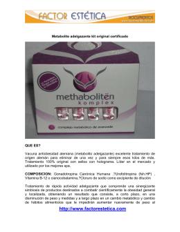Información sobre el Metabolite