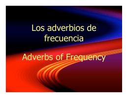 apuntes frequency adverbs