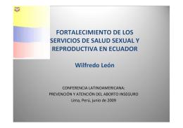 ECUADOR – Ministerio de Salud Pública – Área de la Salud de la