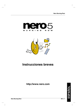 Manual Nero en Español