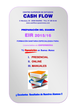 clases - temarios - test informacion - cash flow