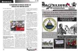 HONDURAS 1821-2012: A 191 años, luchemos por una nueva y