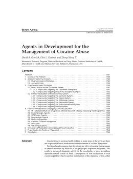 Agents in Development for the Management of Cocaine Abuse