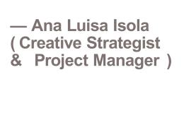 portfolio - Ana Luisa Isola