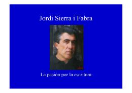 Jordi Sierra i Fabra - Fundación Alonso Quijano