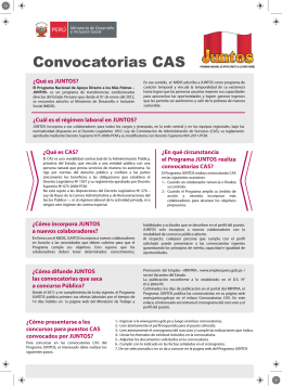 Cartilla Convocatoria CAS
