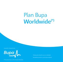 Plan Bupa Worldwide(*)