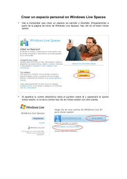 Crear un espacio personal en Windows Live Spaces
