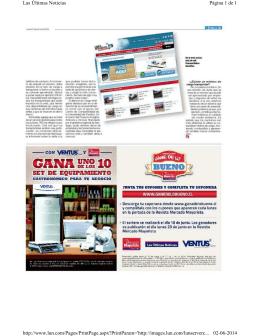 Página 1 de 1 Las Últimas Noticias 02-06