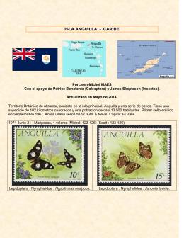 Estampillas con insectos de Anguilla