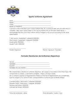 Sports Uniforms Agreement Formato Devolucion de Uniformes