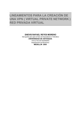 lineamientos para la creación de una vpn