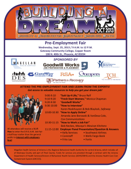 Pre-Employment Fair - Magellan of Louisiana