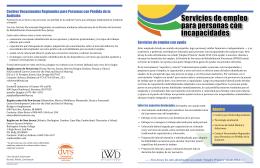 Servicios de empleo para personas con incapacidades