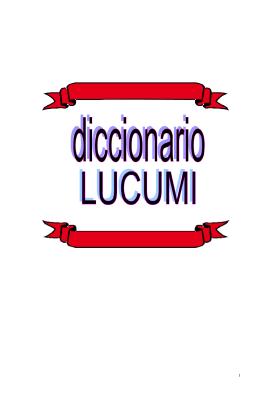 Diccionario Lucumi