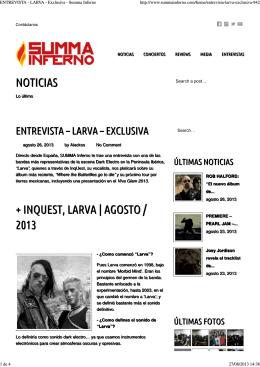 Entrevista en Summa Inferno