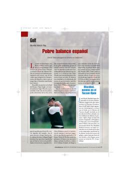 Golf Pobre balance español