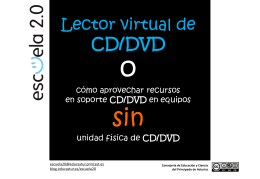 Lector virtual de CD/DVD - Educastur Hospedaje Web