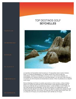 Viajes de Lujo, Viajar de Lujo, Viajes Exclusivos, Golf, Seychelles