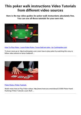 #Z poker walk instructions PDF video books
